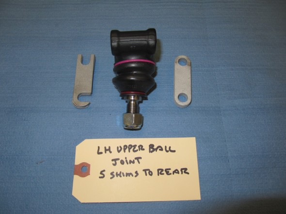 Upper Ball Joint Assembly with Spacer and Castor Shims