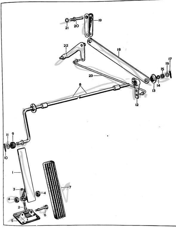 Accelerator Pedal Shaft Assembly Graphic