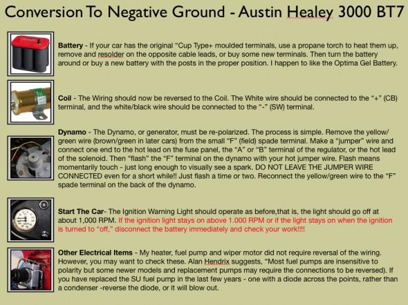 Conversion to Negative Ground