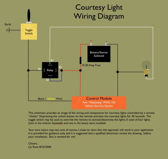 Courtesy Light Wiring