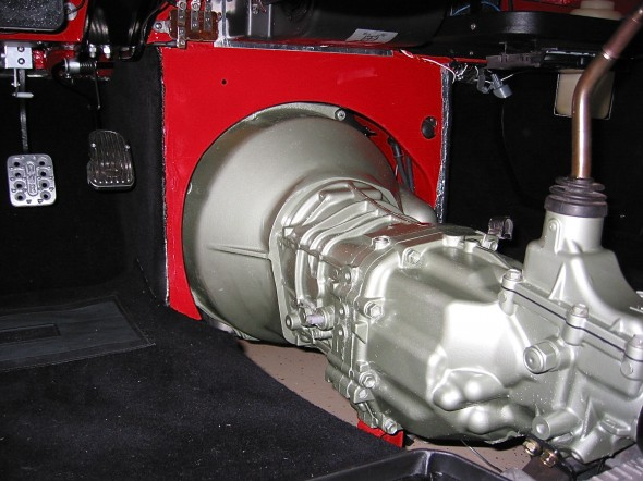Gearbox and Bell Housing Installed