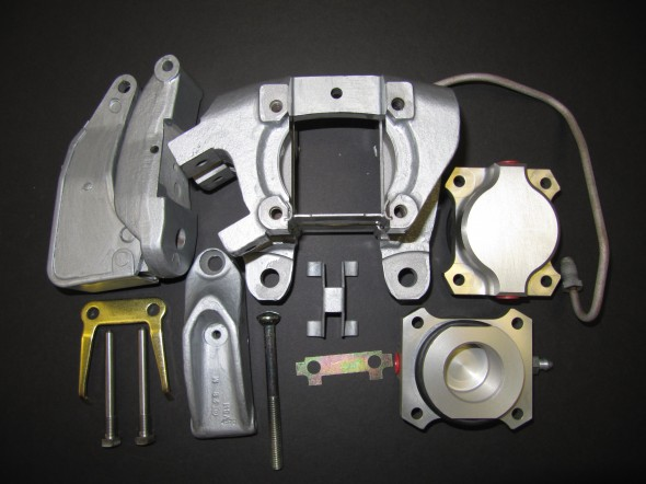 LH Rear Brake Caliper Components