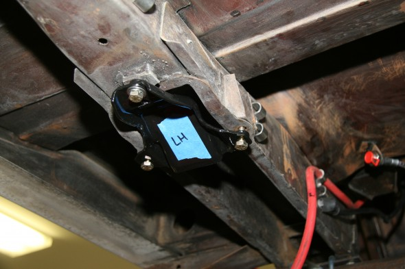 Trial Fitting the Front Leaf Spring Mounting Plate