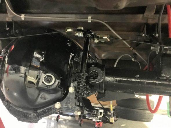 Handbrake Compensator Assembly Mounted
