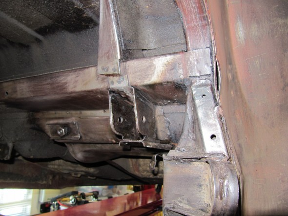 RH Rear Bulkhead Undercoating Removed