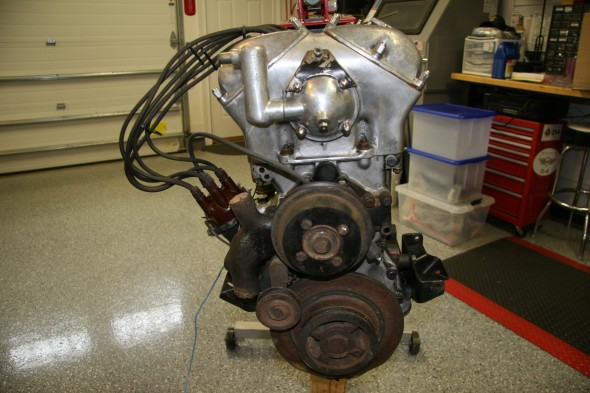 Front of Cleaned Engine Before Rebuild