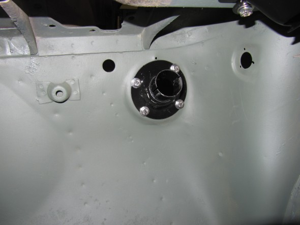 Lower Steering Column Bracket Installed