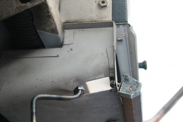 Newspaper Tray Slot for New Scuttle Ventilator Lever Extension