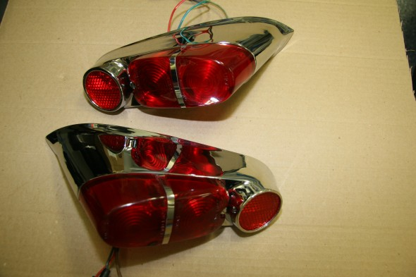 Tail Lights Assembled with Lucas Reflectors