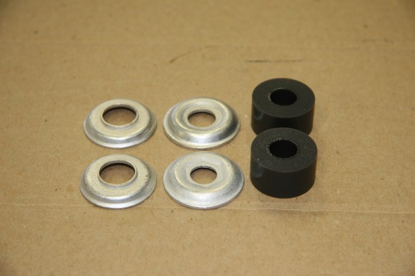 Front Damper Inner and Outer washers with Polybush Buffers