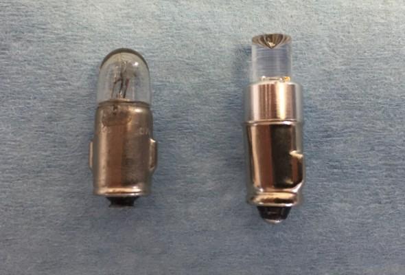 2 Watt Liliput Turn Signal Indicator Bulb and Replacement BA7LED Green Micro Bayonet Bulb