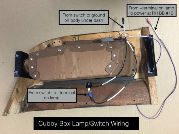 Cubby Box Wiring for Lamp:Switch