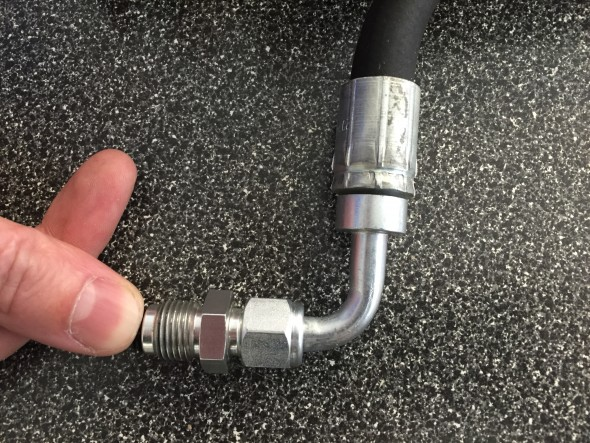 -6 90 Degree Fitting on the High Pressure Hose