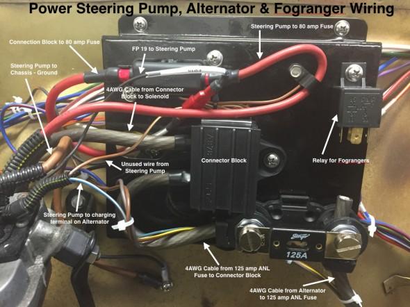 Power Steering Pump, Alternator & Fogranger Wiring on Electrical Panel