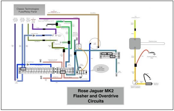 Rose Jaguar MK2 Flasher Circuit & Overdrive