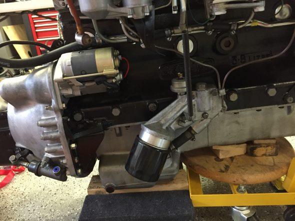 Starter Installed on Engine