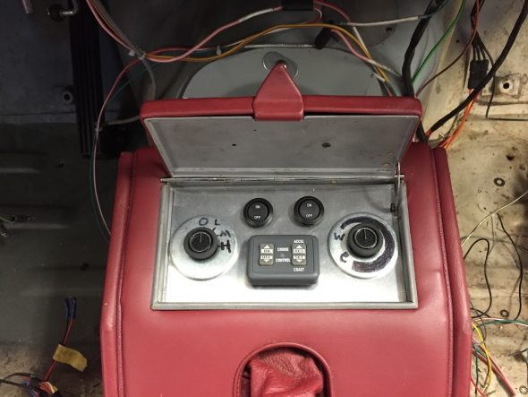 Air Conditioning, Cruise Control, Radiator Fan, and Heat Evacuation Blower Switches